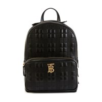 Burberry Tb Leather Backpack Black