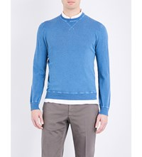 Slowear Washed Cotton Jumper Bright Blue