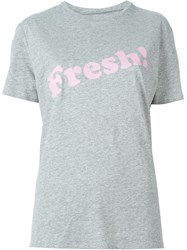6397 Fresh Print T Shirt Grey