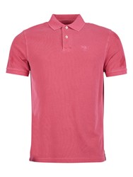 Barbour Short Sleeve Cotton Sports Polo Shirt Fuchsia