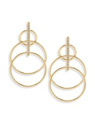 Jules Smith Designs Suzy Layered Hoop Drop Earrings Yellow Gold