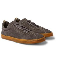 Officine Creative Karma Suede Sneakers Gray