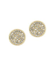 Laundry By Shelli Segal Crystal Pave Disc Stud Earrings Gold