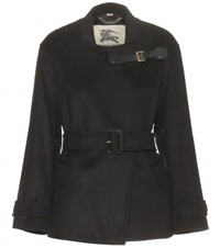 Burberry Heronsby Short Wool And Cashmere Blend Jacket Black