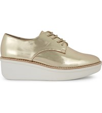 Aldo Rivale Platform Derby Shoes Gold