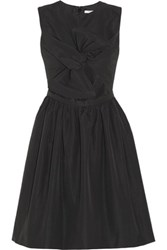 Carven Cutout Shantung Faille Dress Black