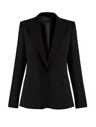 Stella Mccartney Single Breasted Wool Tuxedo Jacket Black