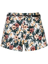 Loveless Floral Belted Shorts Multicolour