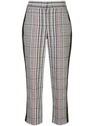 Veronica Beard Cropped Houndstooth Print Trousers 60