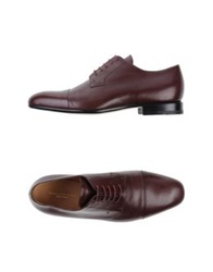 Dries Van Noten Lace Up Shoes Maroon