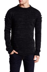 Ron Tomson Long Sleeve Cut Out Sweater Black