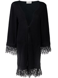 Antonia Zander Drawstring Cardi Coat Black