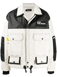 Diesel Colour Block Jacket In Mix Materials 60