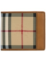 Burberry House Check Small Wallet Brown