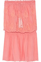 Melissa Odabash Fruley Broderie Anglaise Voile Coverup Peach