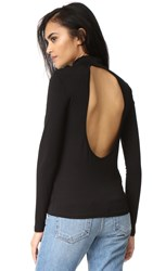 Just Female Luca Open Back Top Black