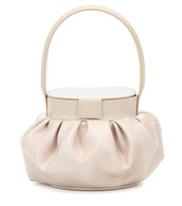 Rejina Pyo Agnes Patent Leather Tote Beige