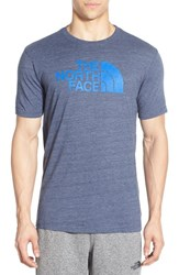 The North Face Men's Trim Fit Logo Graphic T Shirt Cosmic Blue Bomber Blue