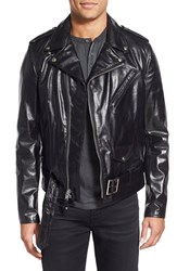 Men's Schott Nyc 'Perfecto' Slim Fit Waxy Leather Moto Jacket