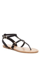 Red Circle Kaye Flat Sandal Black