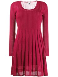 M Missoni Patterned Knitted Dress Red