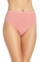 Nordstrom Women's Lingerie Seamless Full Briefs Pink Blossom Heather