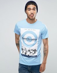 Lambretta Retro Scooter T Shirt Blue