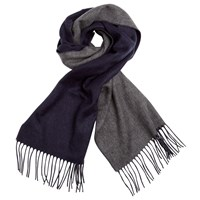John Lewis Double Faced Cashmink Scarf Navy Grey