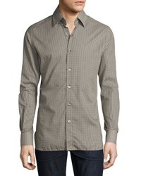 Tom Ford Circle Print Sport Shirt Olive
