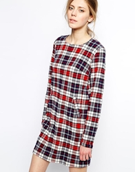 Libertine Libertine Halo Dress In Tartan Checkedred