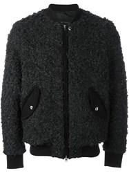 Christian Pellizzari Zipped Bomber Jacket Black