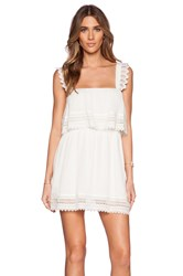 Liv Perry Tiered Dress White