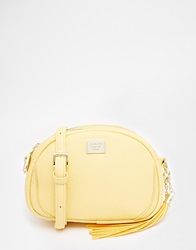 Marc B Half Moon Cross Body Bag With Removable Tassel Yellow