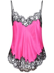 Givenchy Lace Insert Cami Top Pink And Purple