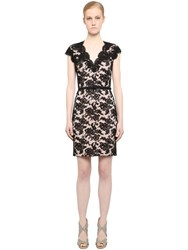 Reem Acra Embellished Cotton And Viscose Lace Dress