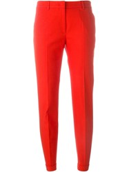 Incotex Cropped Trousers Red
