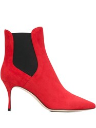 Sergio Rossi Pointed Boots Red