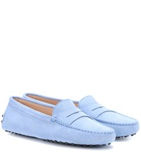 Tod's Gommino Suede Loafers Blue