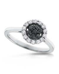 Kc Designs 14K Black Diamond Ring Size 7