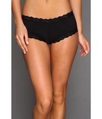 Hanky Panky Organic Cotton Boyshort W Lace Black Women's Underwear