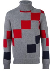 Carven Colour Block Roll Neck Sweater Grey