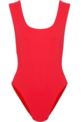 Araks Jireh Cutout Swimsuit Red