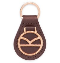 Kingsman Deakin And Francis Leather And Rose Gold Plated Key Fob Rose Gold