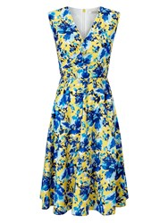 Precis Petite Printed Wrap Dress Yellow