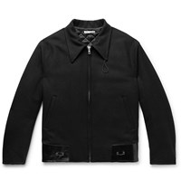 Our Legacy Patent Leather Trimmed Virgin Wool Jacket Black
