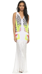 Just Cavalli Sleeveless Gown White