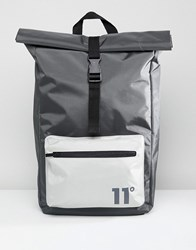 11 Degrees Rolltop Backpack In Grey