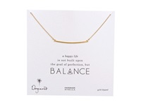 Dogeared Balance Large Square Bar Necklace Gold Necklace