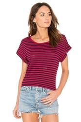 Splendid French Stripe Tee Red