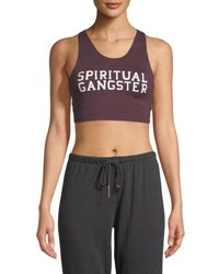 Spiritual Gangster Sg Varsity Tech Crop Bra Red